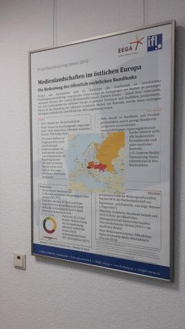 Poster von Jolanthe Stosik über die Medienlandschaften in Polen, Russland, Tschechien und der Ukraine