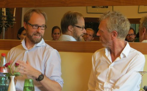Reinhard Veser (on the left) in dialogue with Prof. Lentz